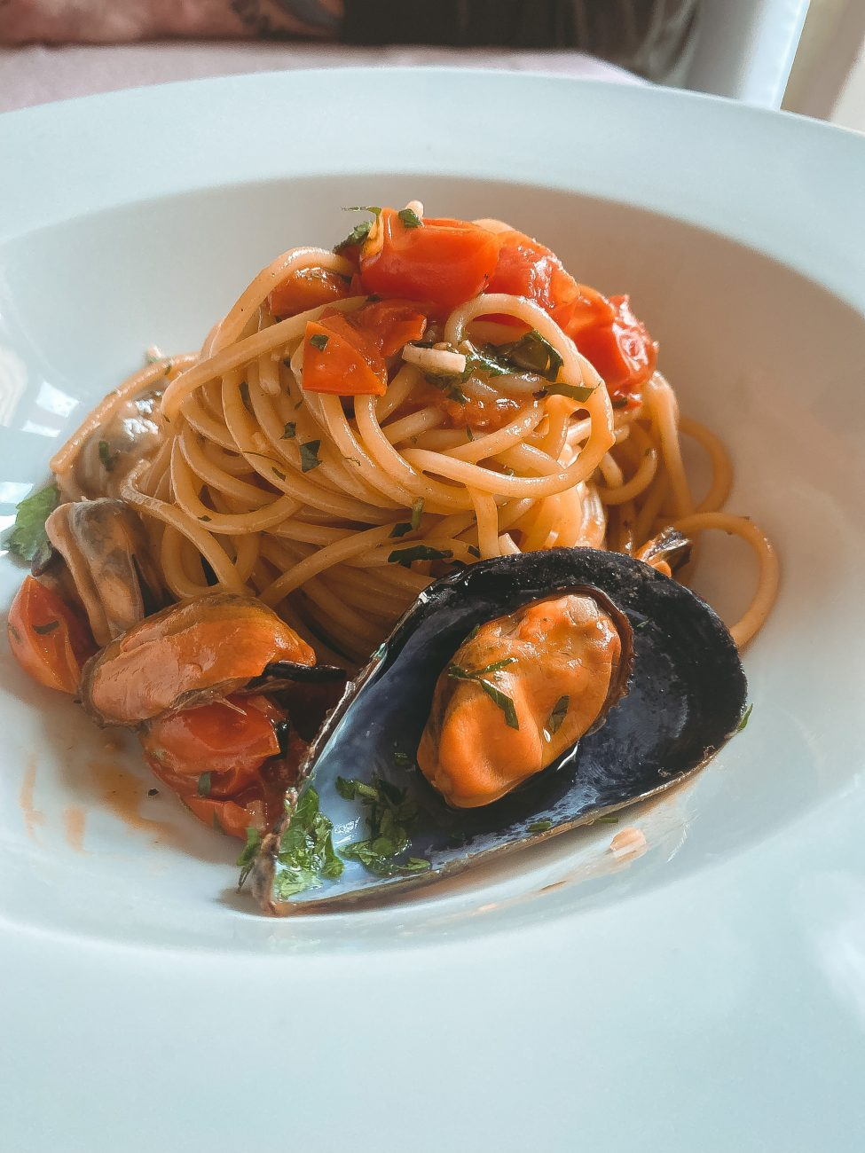 Spaghetti e cozze (mussels)