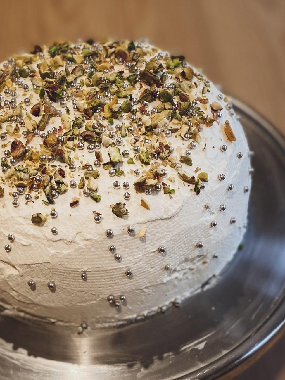 Custard and whipped cream cake